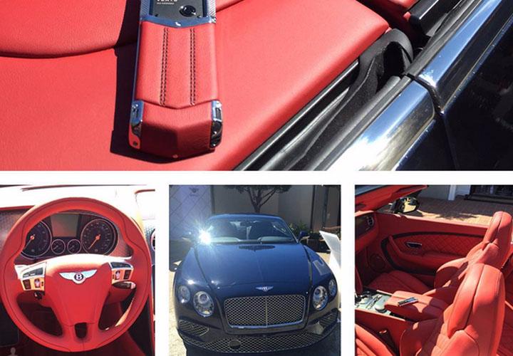 Показан Vertu Signature S for Bentley Hotspur Red