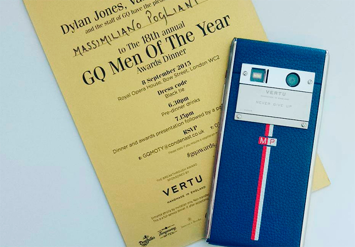 Массимилиано Польяни приглашен на GQ Men Of The Year 2015