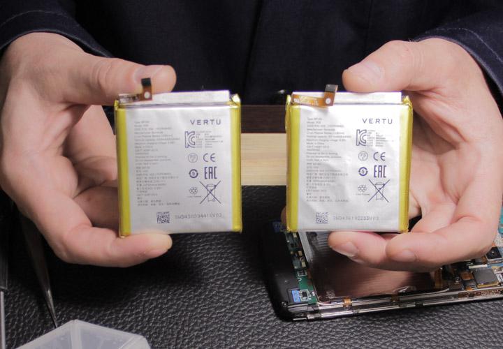 Vertu Aster и Signature Touch — замена батареи