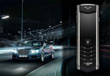 Vertu Signature S for Bentley взволнован спорткарами Bentley