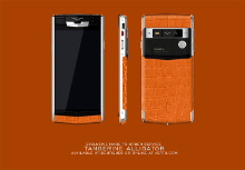 Показан Vertu Signature Touch Fuchsia Tangerine Alligator