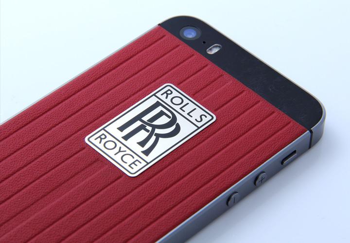 iPhone из красной кожи в стиле Rolls-Royce