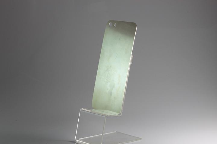 Цельная пластина из серебра для iPhone