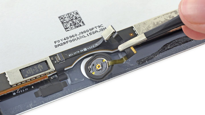 Замена кнопки Home на iPad Air 2