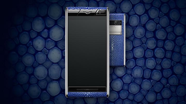 Vertu Aster Stingray Blue — синяя кожа ската