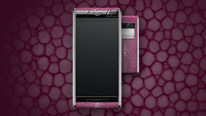 Vertu Aster Stingray Pink — розовая кожа ската