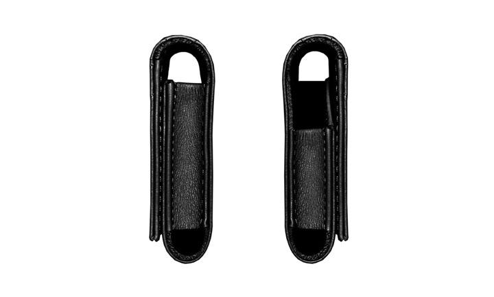 Чехол-сумка из стеганной кожи черного цвета