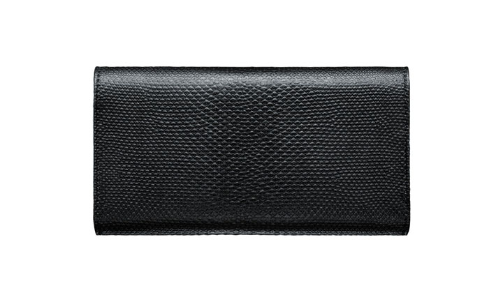 Чехол-сумка из кожи карунга цвета «Черная икра»