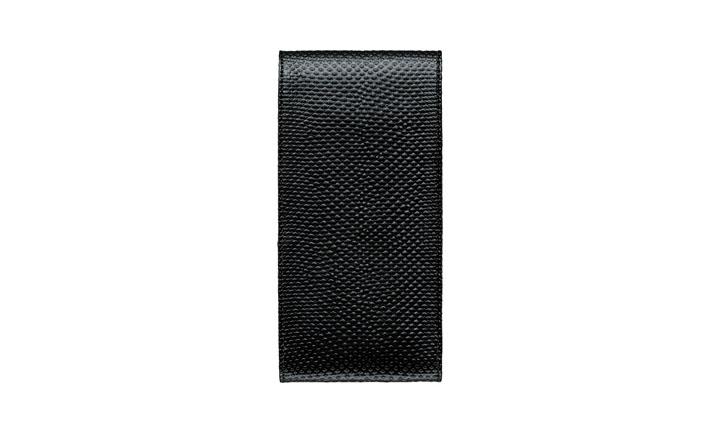 Чехол с откидным клапаном из кожи карунга цвета «Черная икра»
