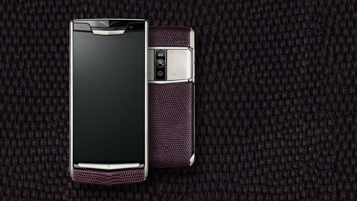 Vertu Signature Touch 2015 Grape Lizard