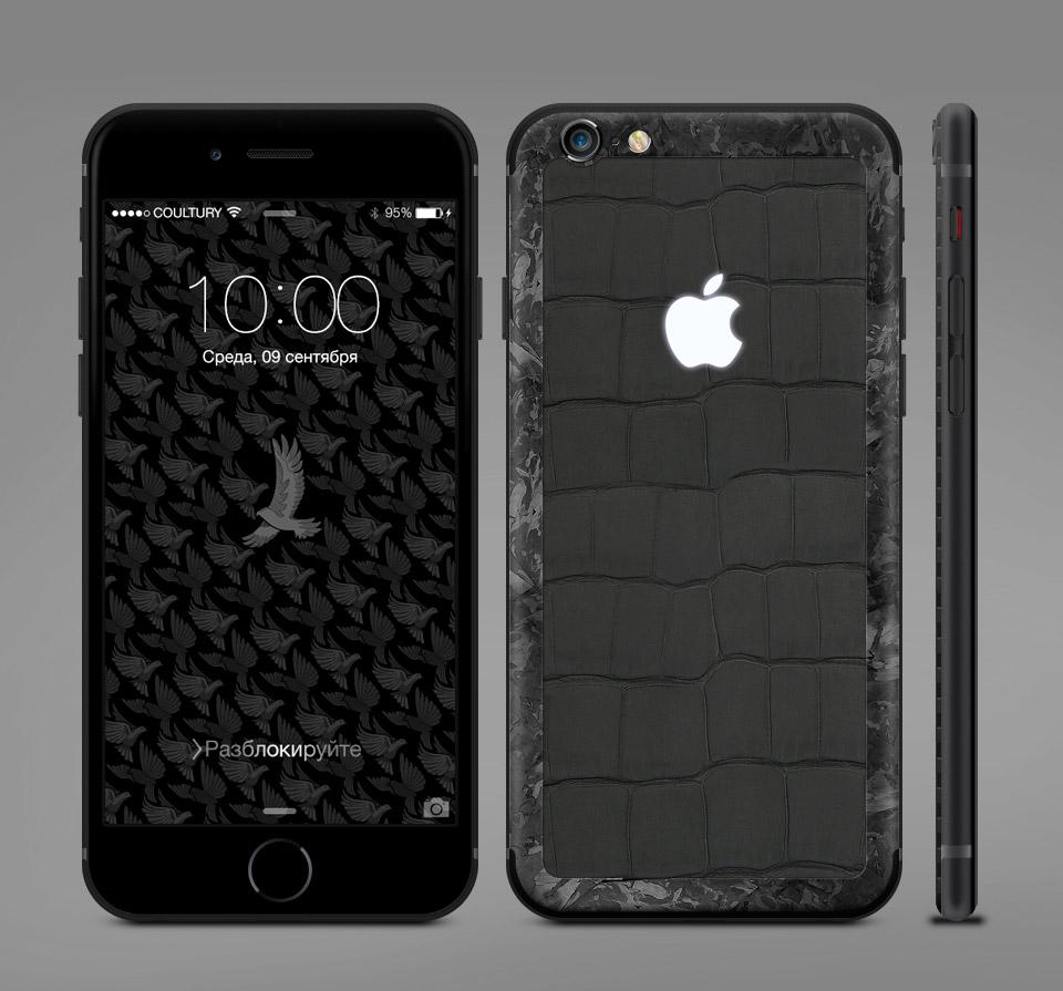 iPhone из мраморного карбона