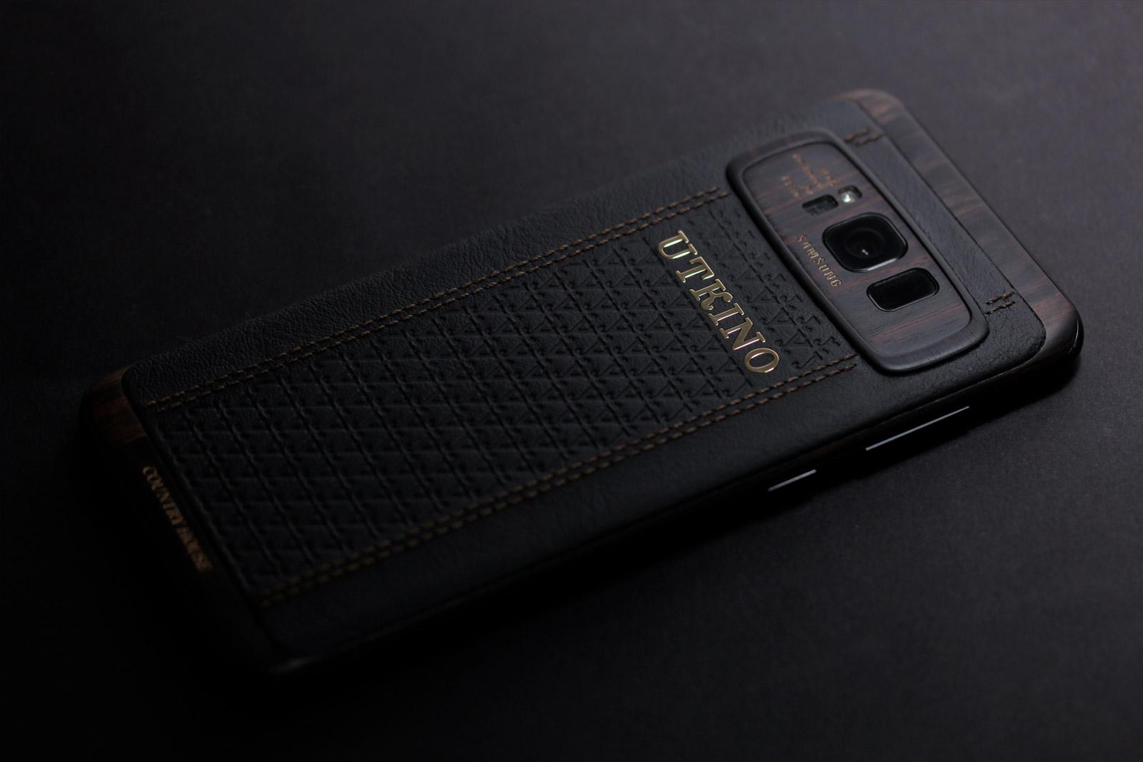Samsung S8 Plus из дерева и кожи. Версия премиум. Самый дорогой в мире