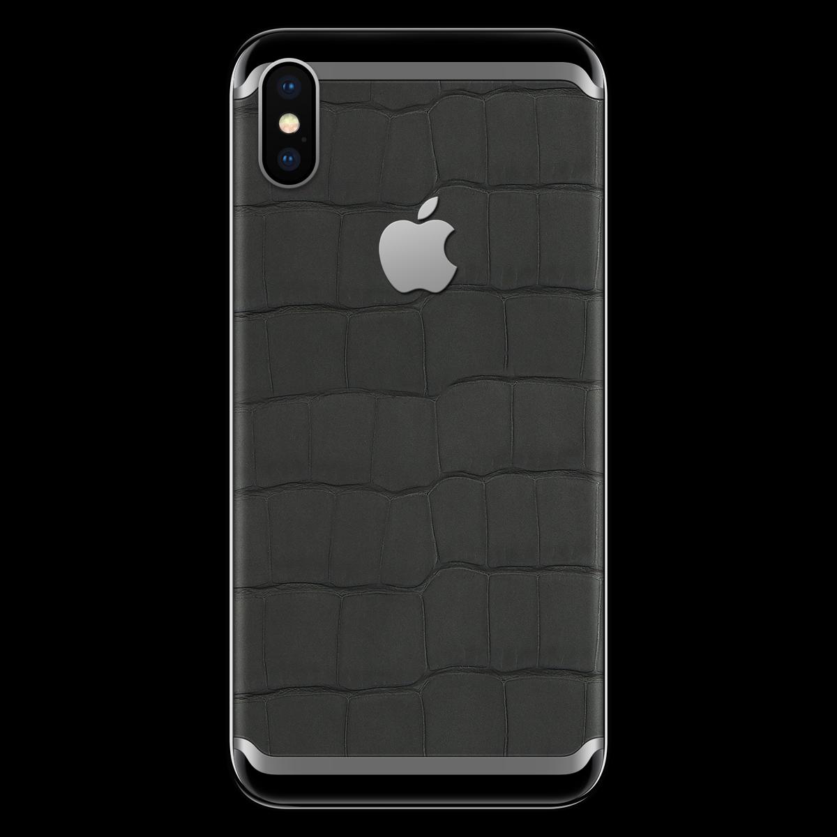 Моддинг iPhone X кожа крокодила