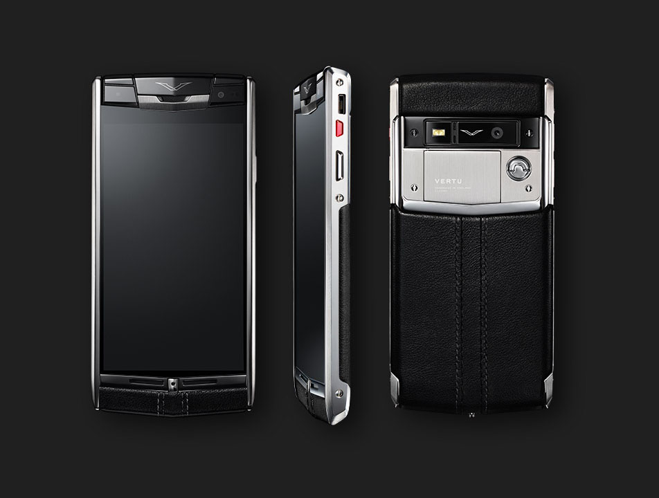 Vertu Signature Touch 2014 Jet Leather