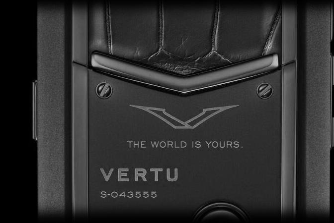 Гравировка Vertu Signature