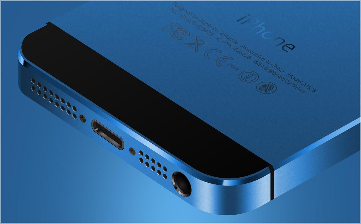 Синий корпус для iPhone 5