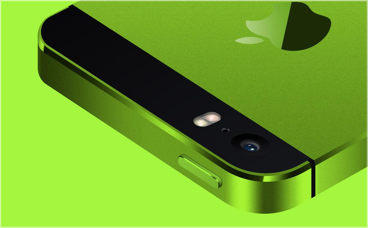 Зеленый корпус для iPhone 5