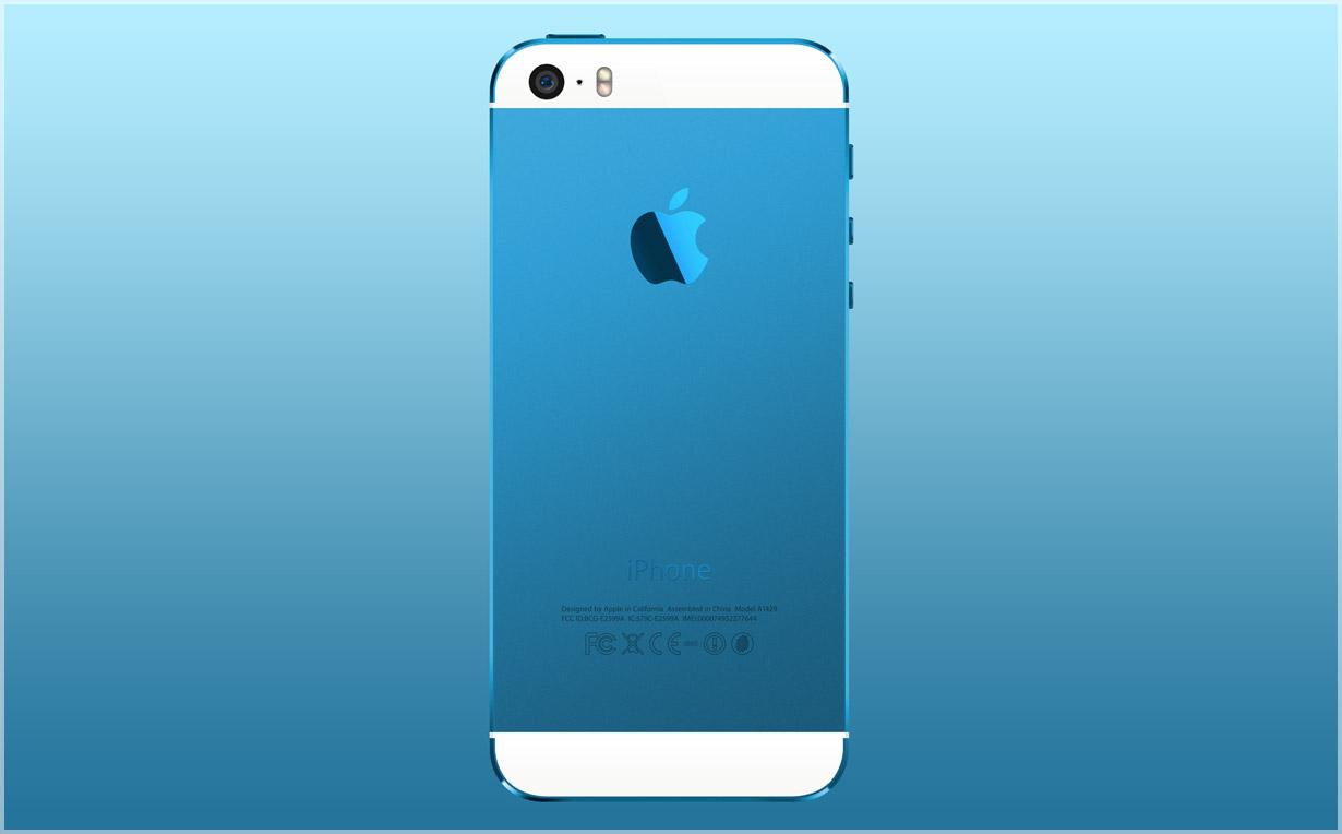 Голубой корпус для iPhone 5