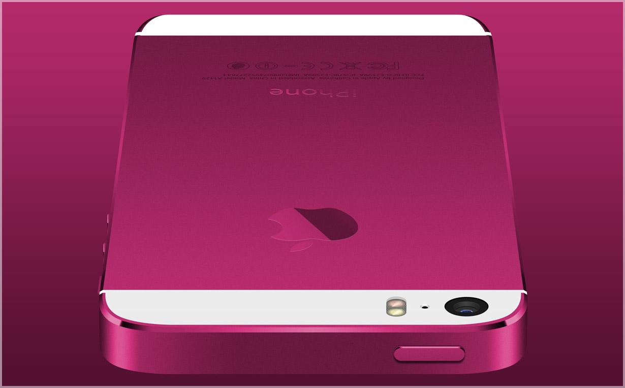 Розовый корпус для iPhone 5