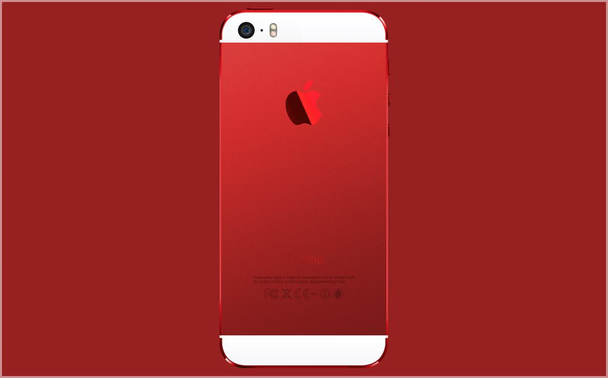 Красный корпус для iPhone 5