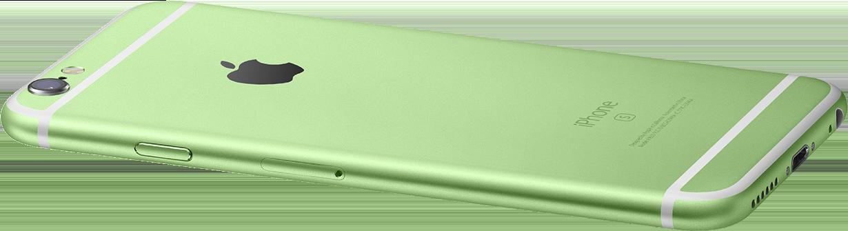Зеленый корпус iPhone 6 и 6s