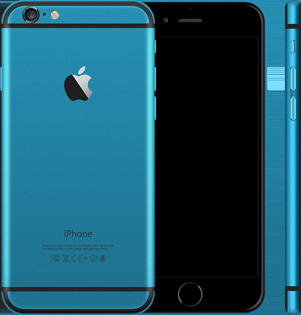 Голубой корпус iPhone 6 и 6s