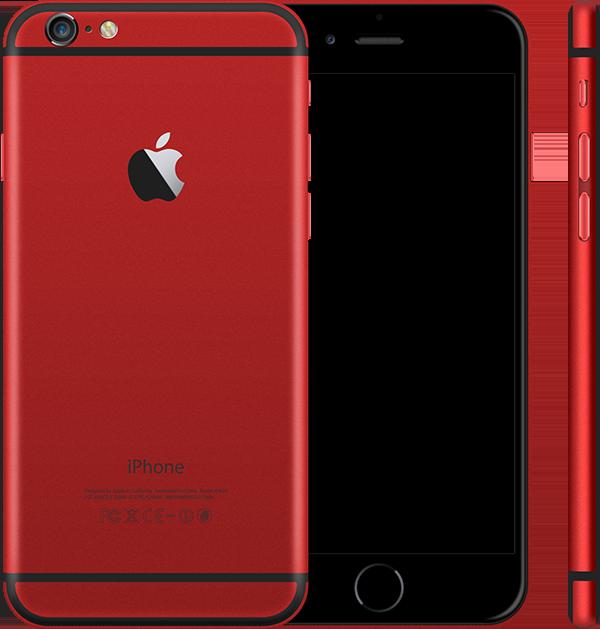 Красный корпус iPhone 6 и 6s