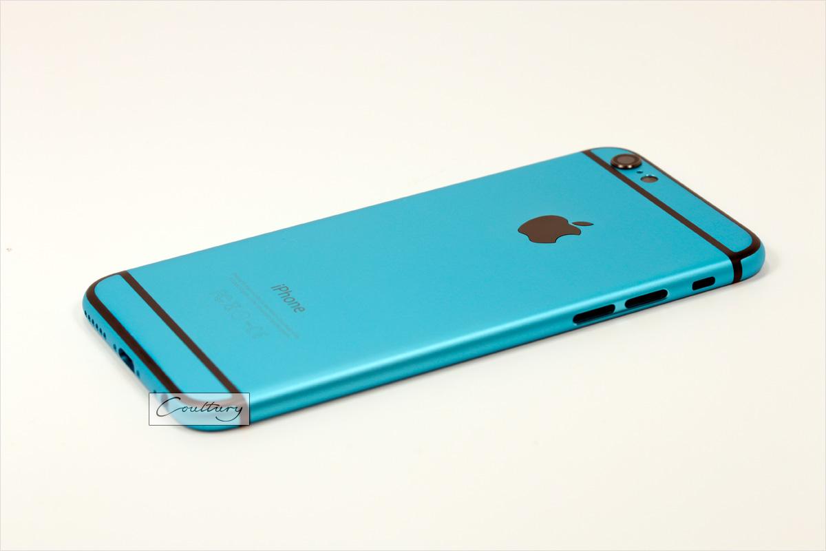Голубой с черным корпус iPhone 6 и 6s