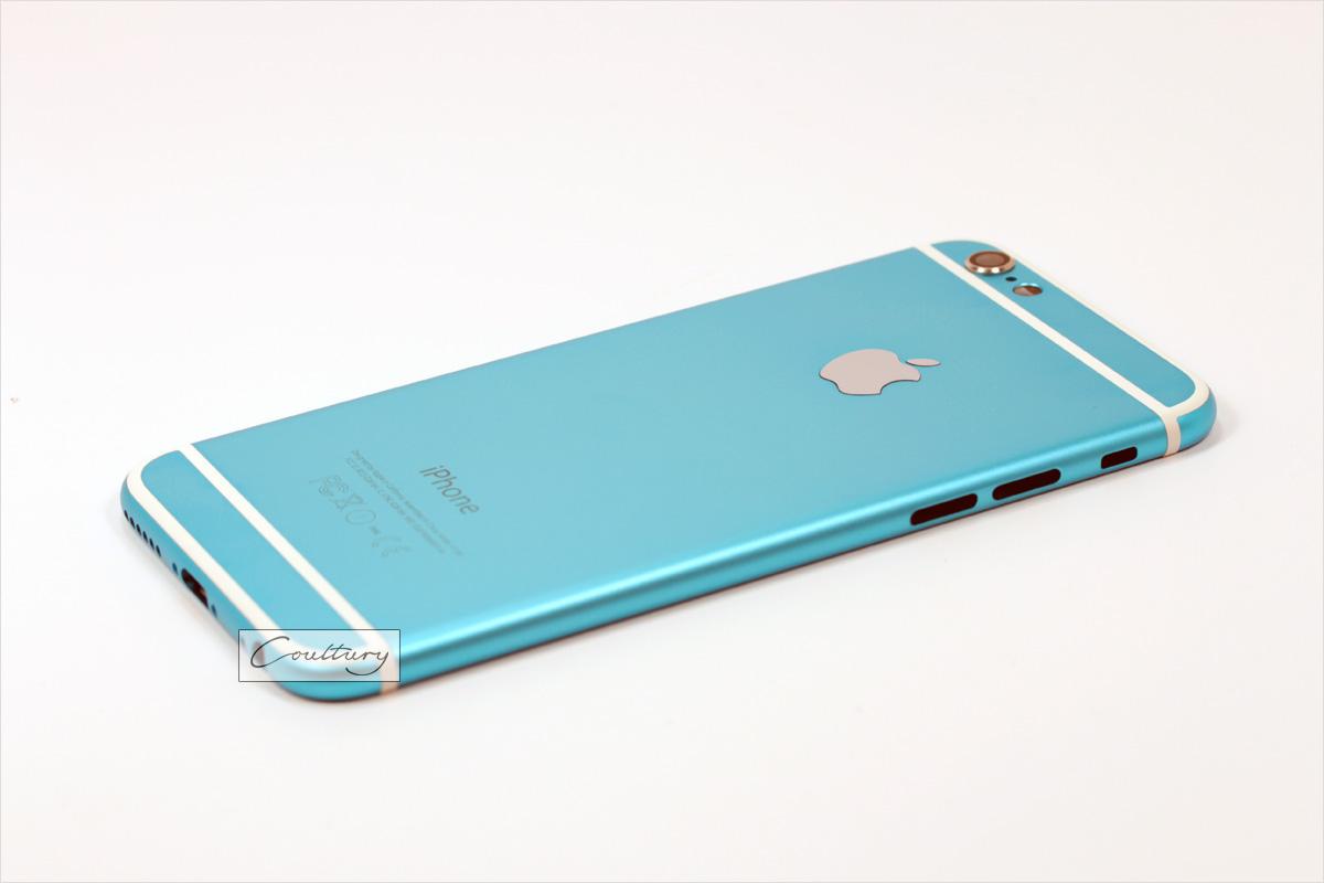 Голубой с белым корпус iPhone 6 и 6s