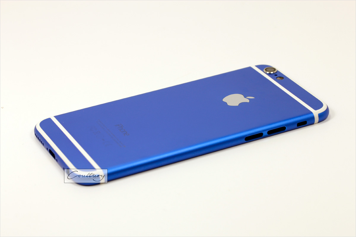 Синий с белым корпус iPhone 6 и 6s