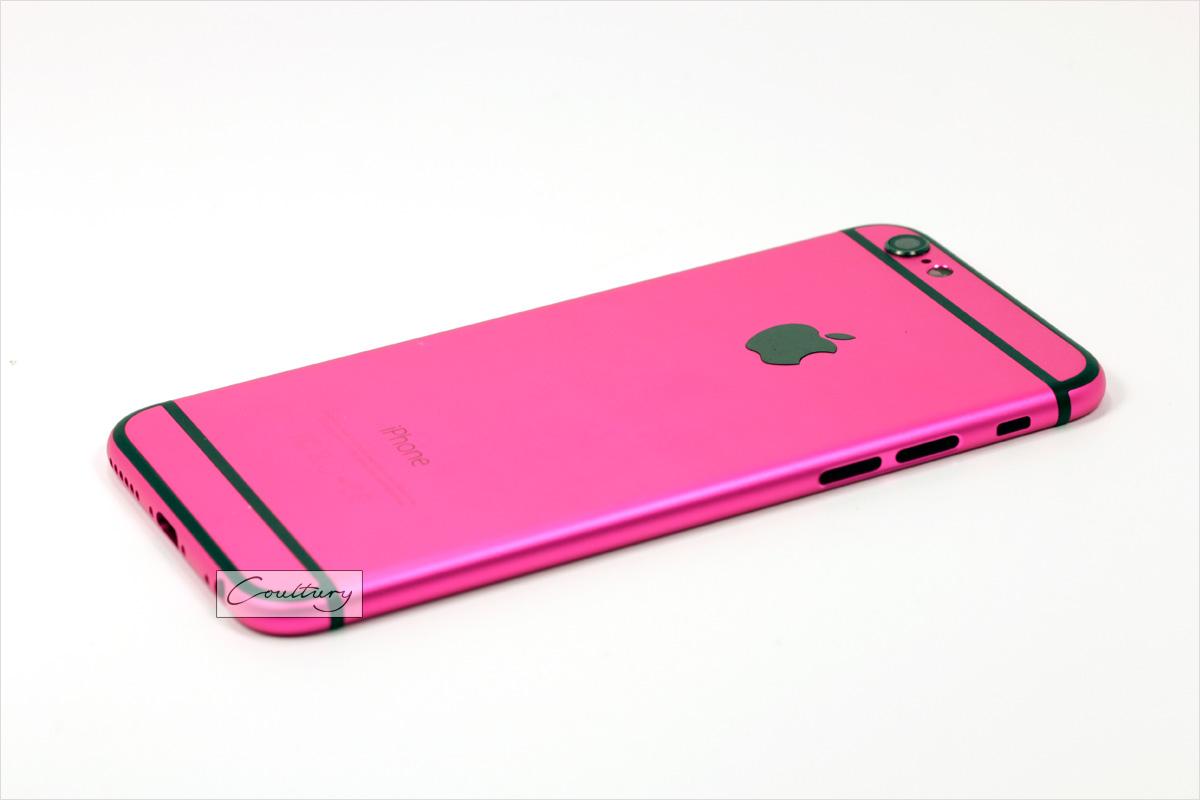 Малитовый, розовый с черным корпус iPhone 6 и 6s