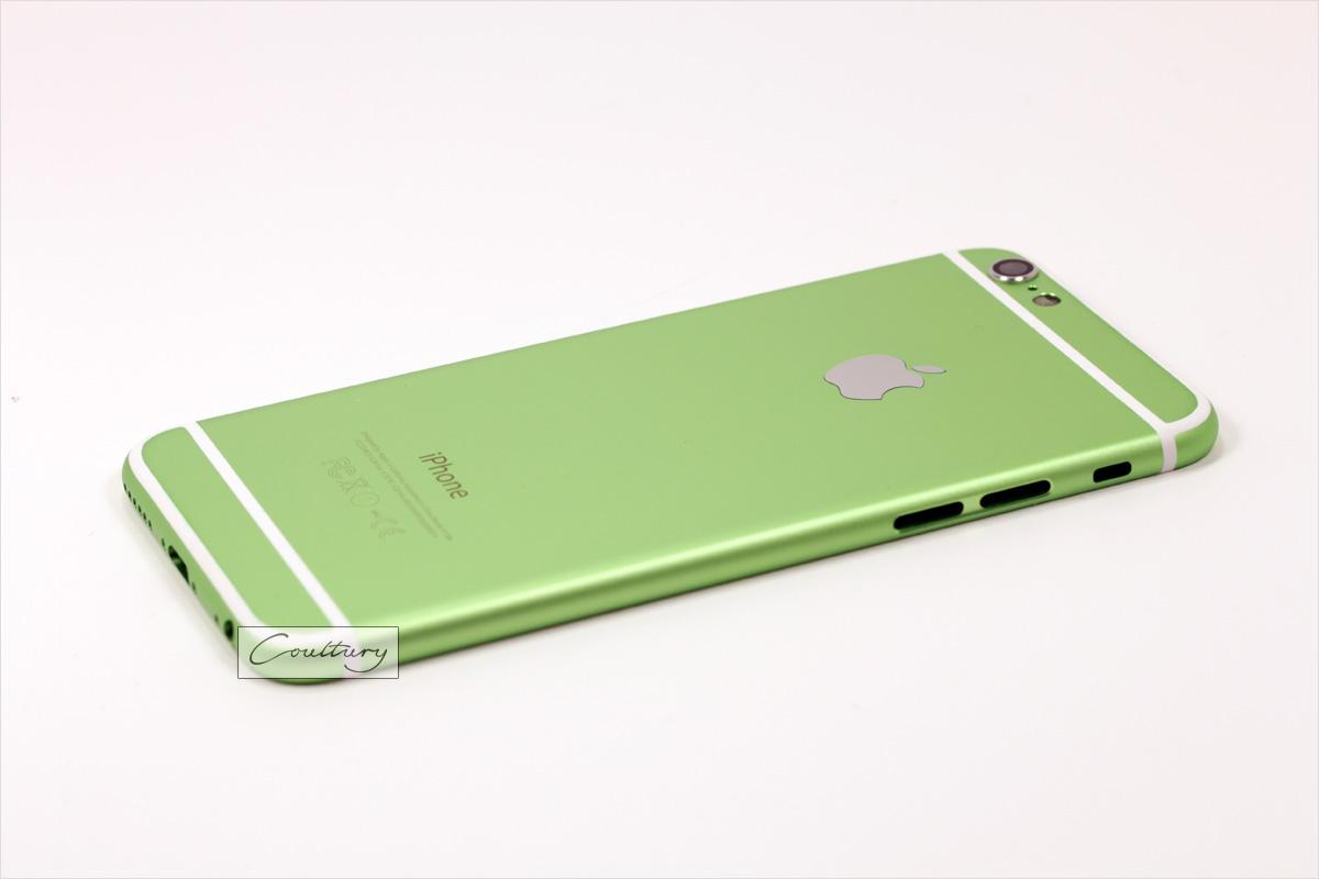 Зеленый с белым корпус iPhone 6 и 6s