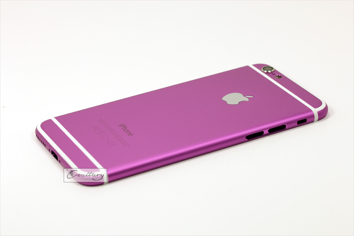 Фиолетовый с белым корпус iPhone 6 и 6s