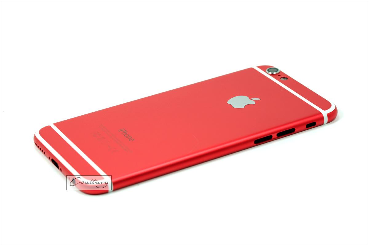 Красный с белым корпус iPhone 6 и 6s