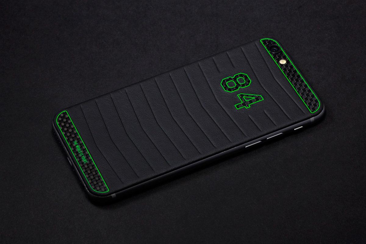 iPhone из черной кожи Наппа