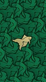 Emerald gold fish