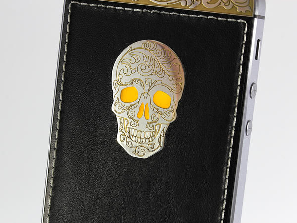 iPhone Gold & Silver skull, Individual