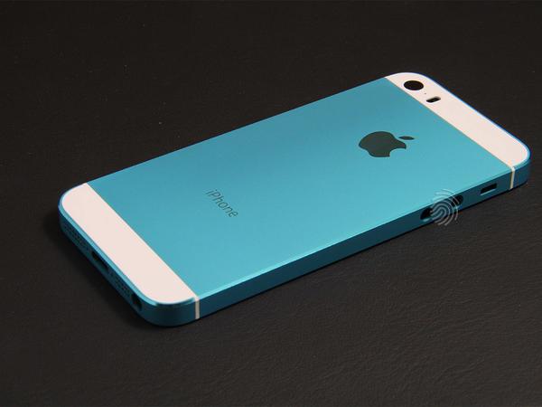 Голубой корпус для iPhone 5s