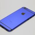 Синий корпус для iPhone 6 с черными антеннами