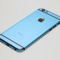 Голубой корпус для iPhone 6 с черными антеннами