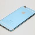 Голубой корпус для iPhone 6 с белыми антеннами