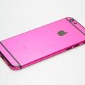 Малиновый корпус для iPhone 6 с черными антеннами