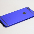 Синий корпус для iPhone 6s с черными антеннами