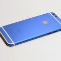 Синий корпус для iPhone 6s с белыми антеннами