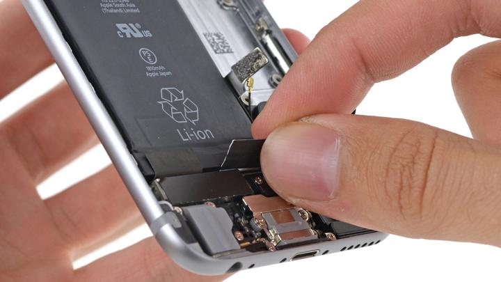 Замена шлейфа кнопки питания на iPhone 6 и iPhone 6 Plus