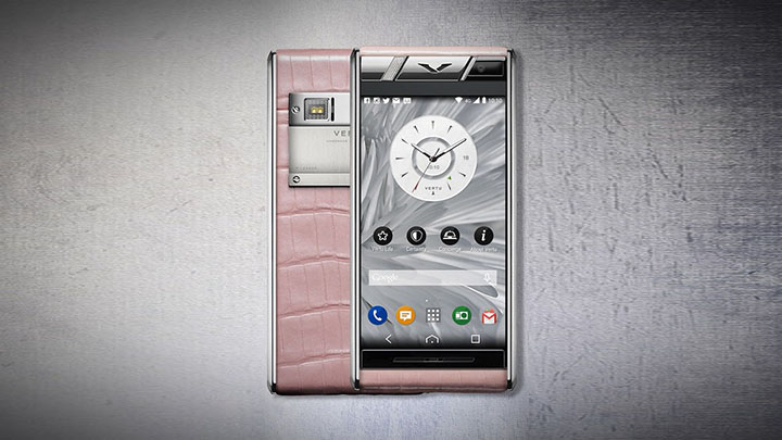 Vertu Aster Diamonds Pink Alligator