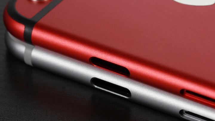 Отверстия для кнопок и держателя SIM-карты в оригинальном корпусе для iPhone 6 и неоригинальном