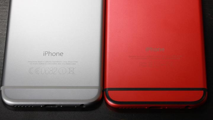 Надписи на оригинальном корпусе для iPhone 6 и неоригинальном