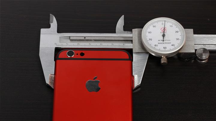 Замеры оригинального корпуса для iPhone 6 и неоригинального