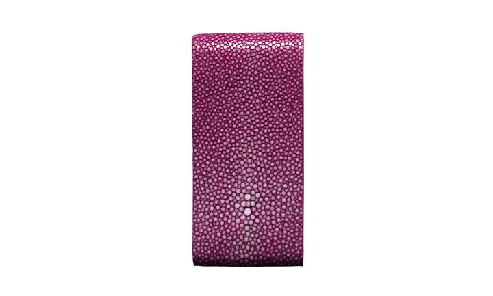 Чехол с откидным клапаном из кожи ската розового цвета